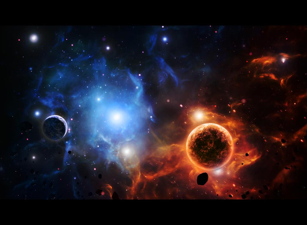 Clashing Nebulas by xXKonanandPain