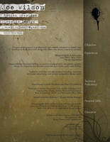 Another Resume by joedubya