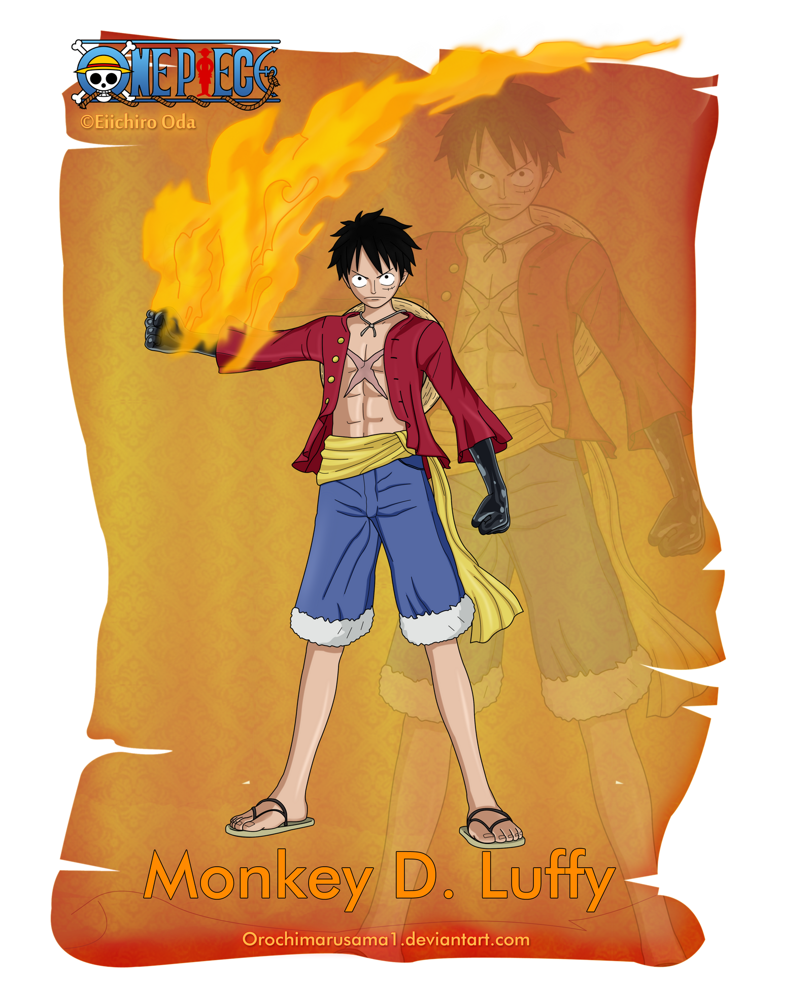 Monkey D. Luffy (Haki) by orochimarusama1 on DeviantArt