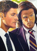 Sam and dean Winchester FBI by EclepticGears