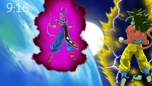 SSJ4 Goku vs Beerus