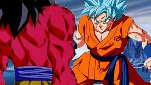 SSGSS Goku vs SSJ4 Goku