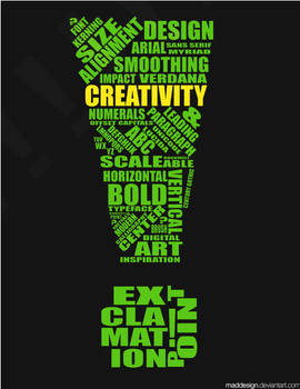 Creativity: Typography by MadDesign