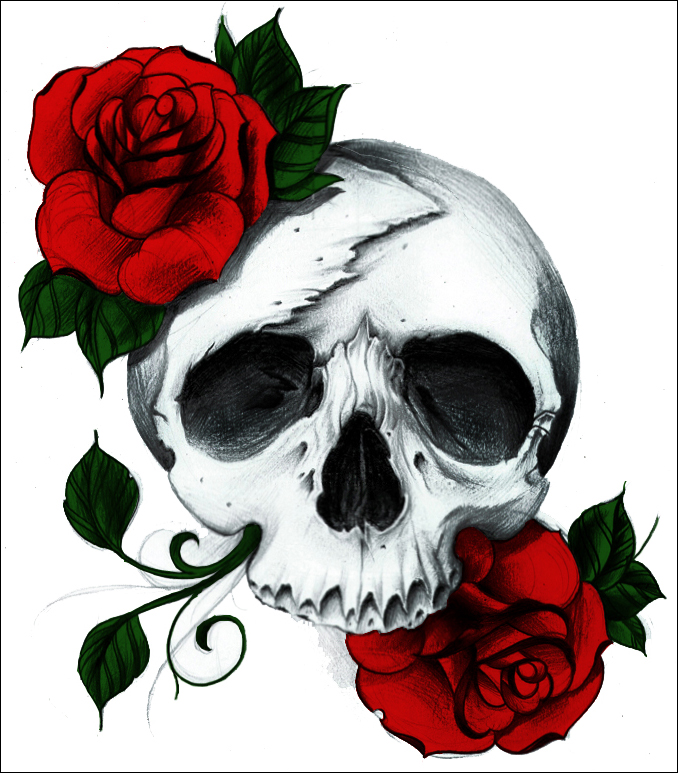 Rose Skull by A-midza on DeviantArt