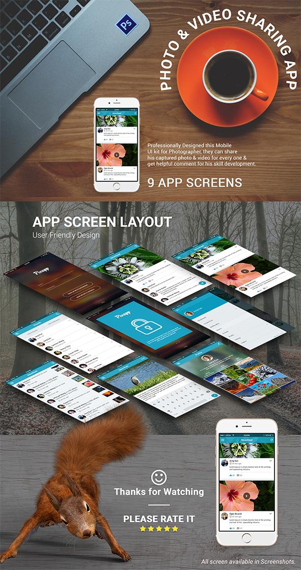 PHOTO SHARING APP - Pixapp by designpex