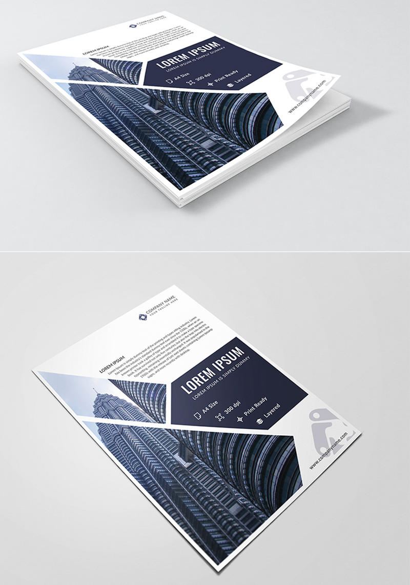 Corporate Free PSD Flyer Template by designpex