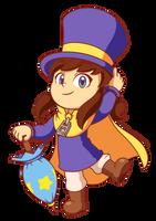 Fanart - Hat Kid (A Hat In Time) + SpeedPaint by CutyAries