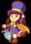 Fanart - Hat Kid (A Hat In Time) + SpeedPaint