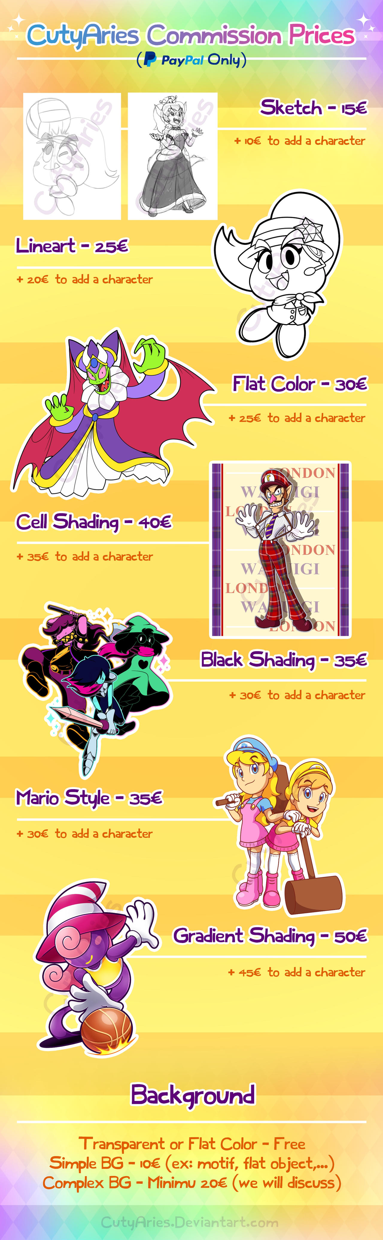 CutyAries Commission Prices