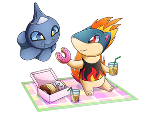 Charity Collab - Quilava and Shuppet