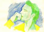 Tom Hiddleston in green