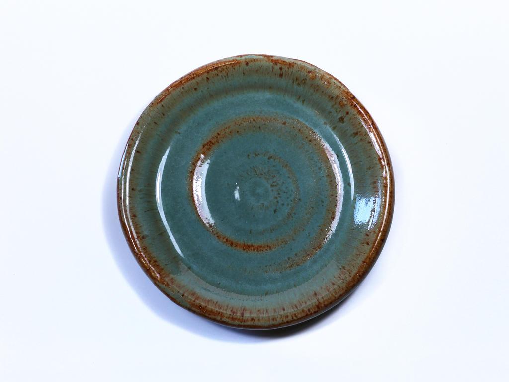 Tenmoku Glazed Plate by AKrukowska