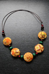 Kimono Fabric Necklace