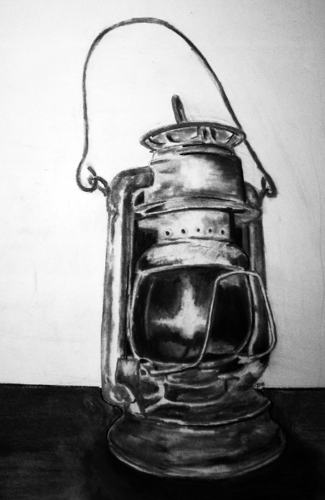 Antique Lantern Charcoal By Randomhero2069