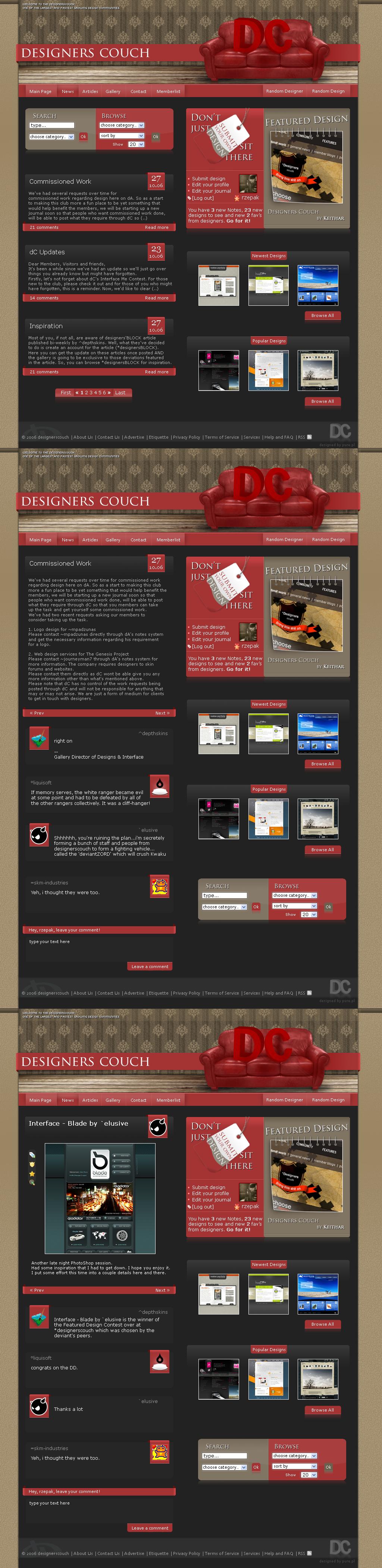 Interface me contest by rzepak