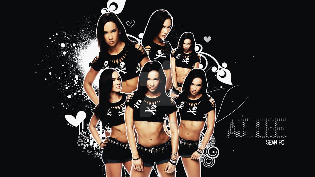 WWE Diva AJ Lee Wallpaper by bluexmuffinx