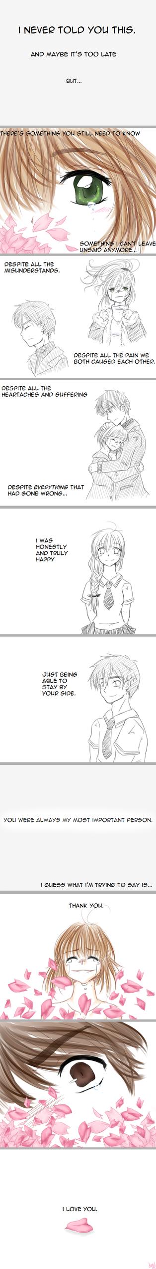 Thank you. I love you. by cherryusagi
