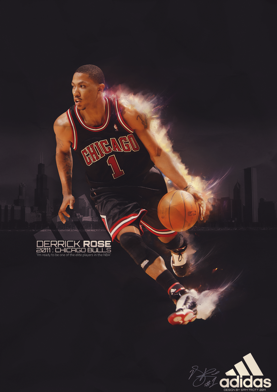 derrick rose adidas wallpaper