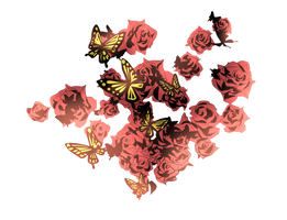 Flower and Butterfly PNG #1 by INDIGOgfxs