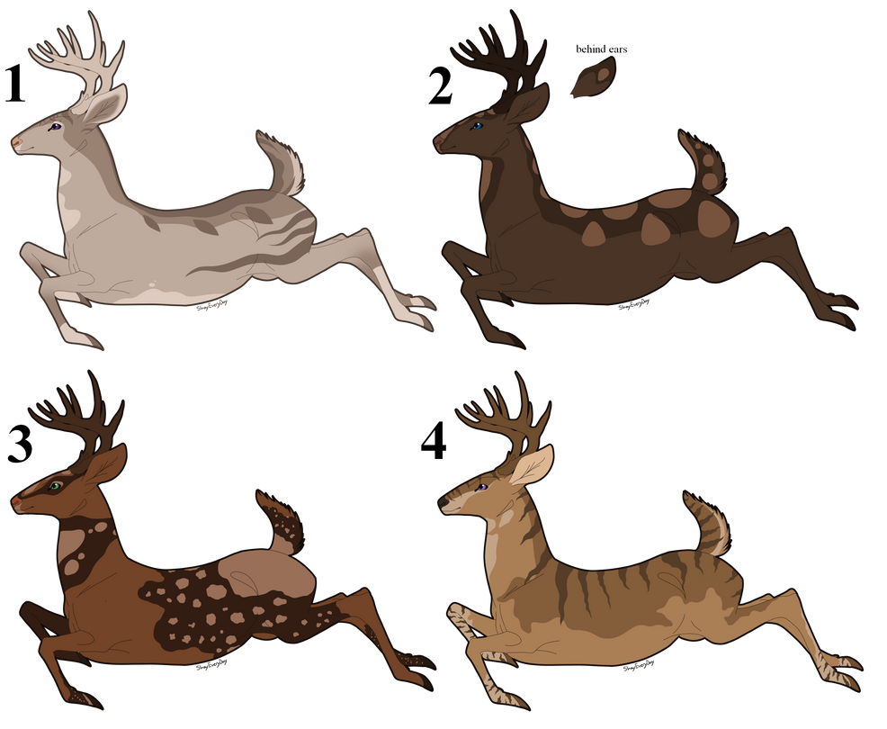 Deer Auction Set 1 (0/4) CLOSED by ShadowDawn93 on DeviantArt