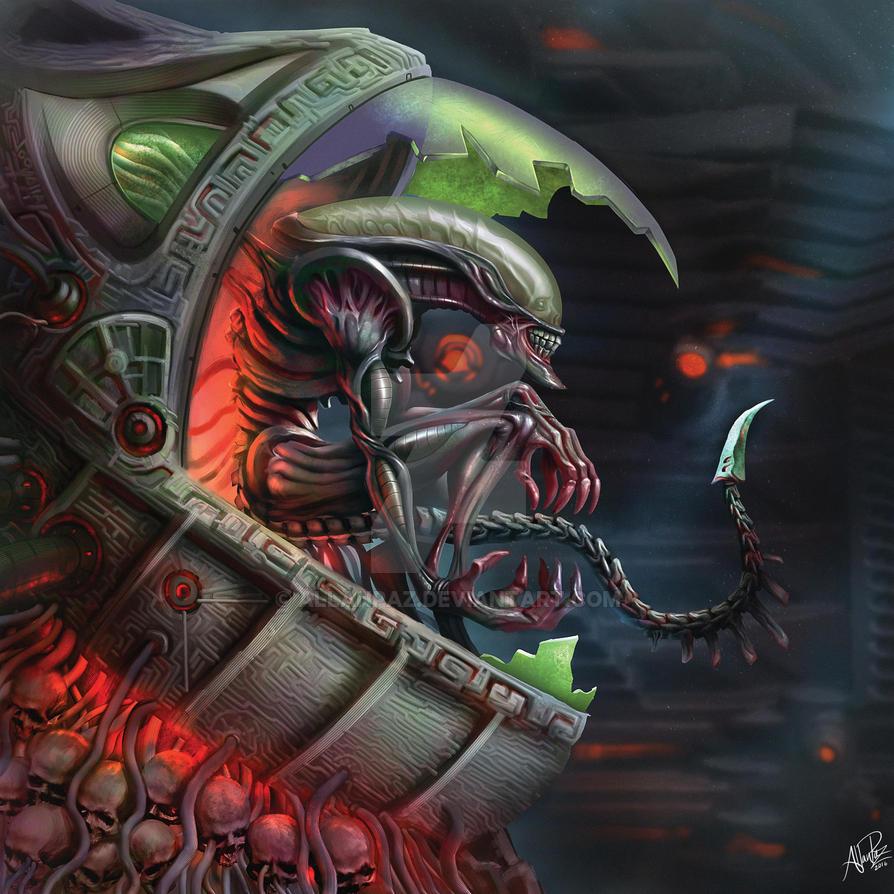 Alien Xenomorph fanart by AllanPaz