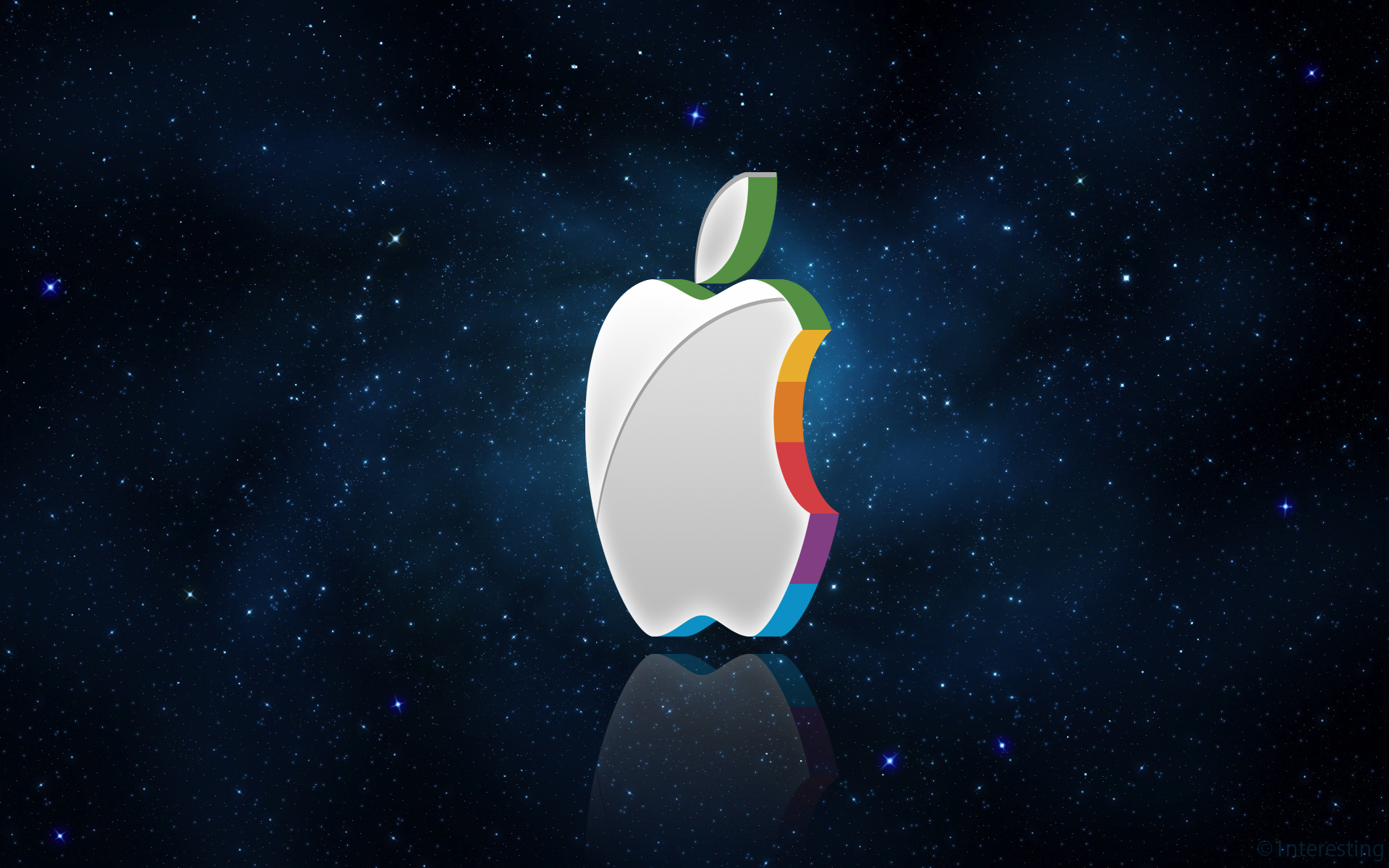 3D Apple Logo Wallpaper by 1nteresting