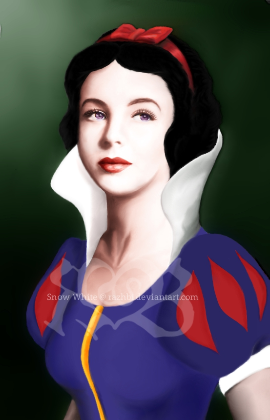 gimp works_photo manipulation_digital art_snow white_elizabeth taylor