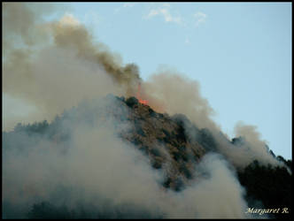 Fire on the top of the moutain