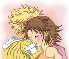 Tidus and Yuna by Beastwithaddittude