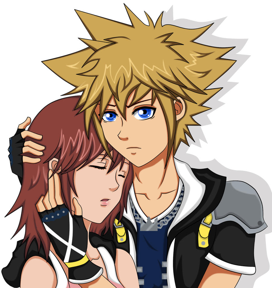 ~Sora and Kairi~ by Beastwithaddittude