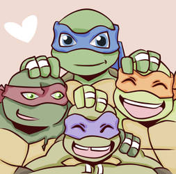 TMNT- Brothers by Beastwithaddittude