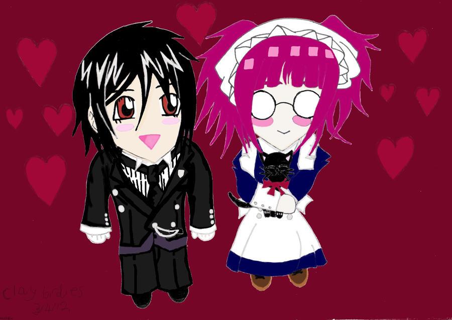 Black Butler Sebastian And Meyrin