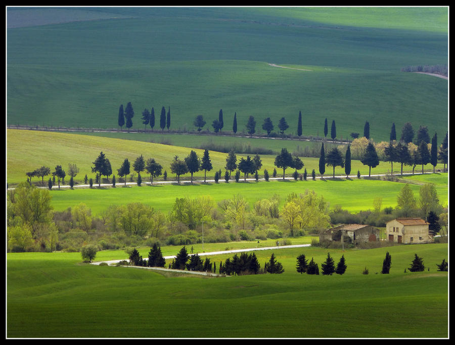 Pienza Tuscan countryside by kanes