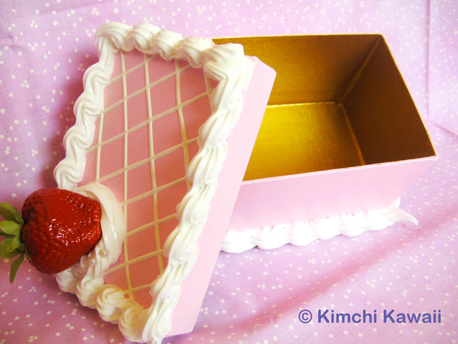 Cake Design Rectangle : Strawberry Cake Box: Rectangle by FrostedFleurdeLis on ...