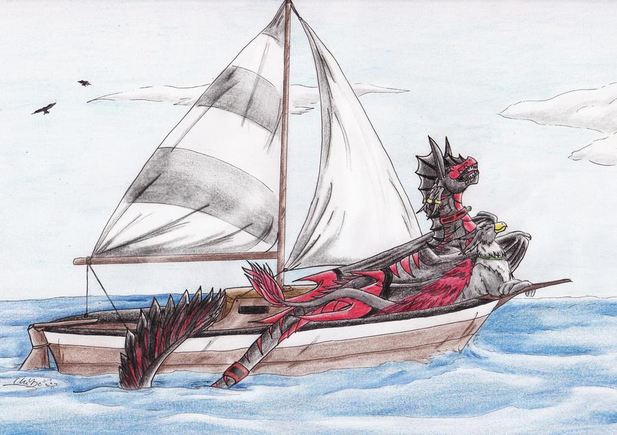 nice sea travel by ChibiMieze
