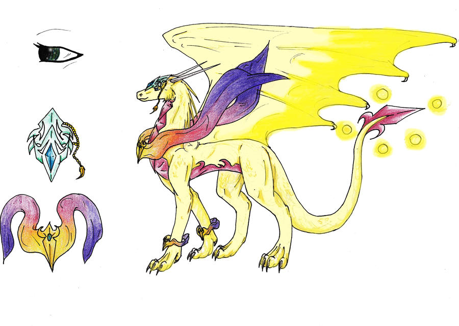 Gaia dragoness of light and life by ChibiMieze