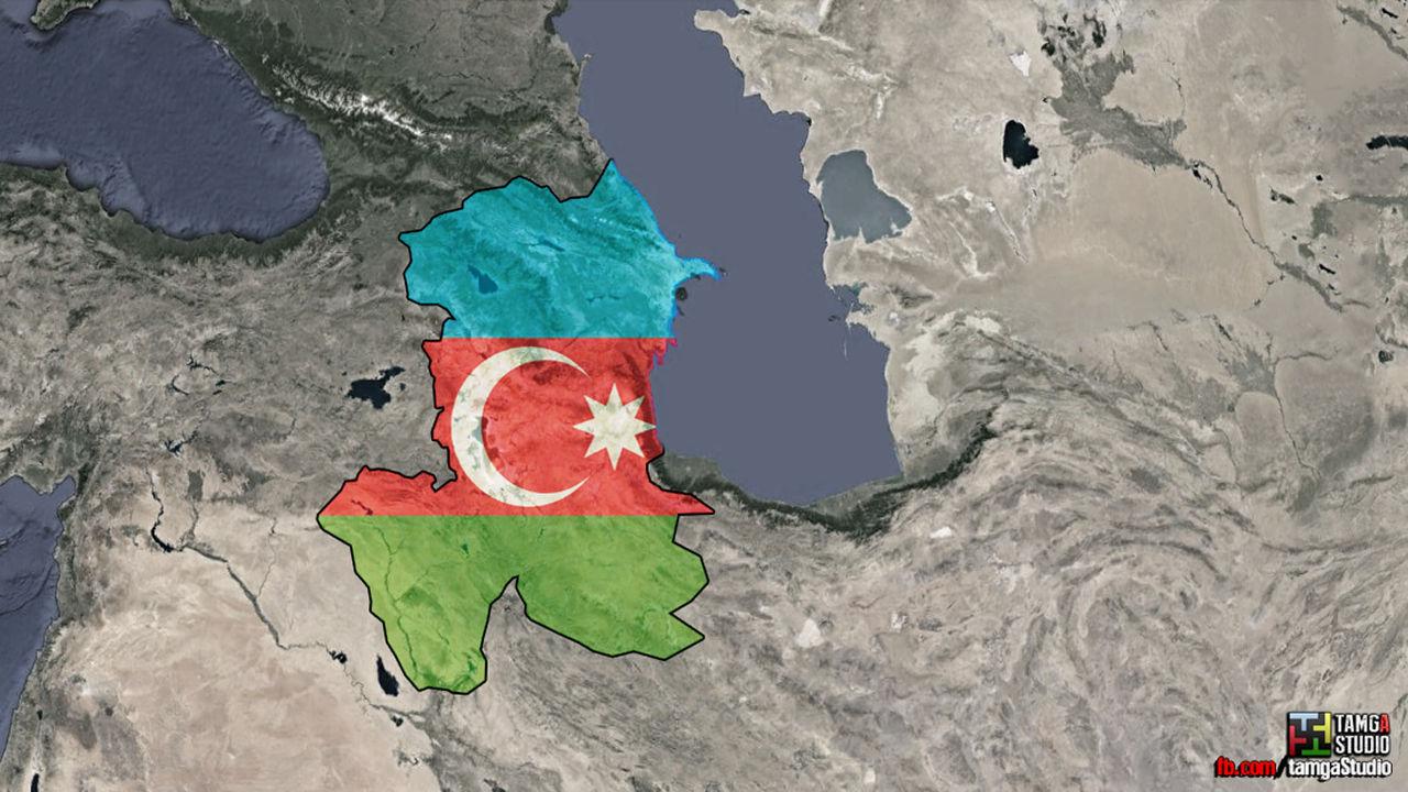 Azerbaijan Map Flag By Tamgastudio On Deviantart