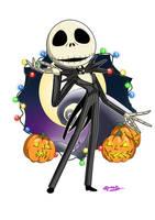 Jack Skellington fan art by SpookyPandaGirl