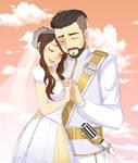 Shoe0nhead and Armoured Skeptic wedding