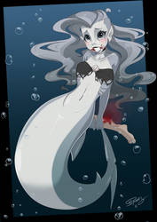 Sharkmaid by SpookyPandaGirl