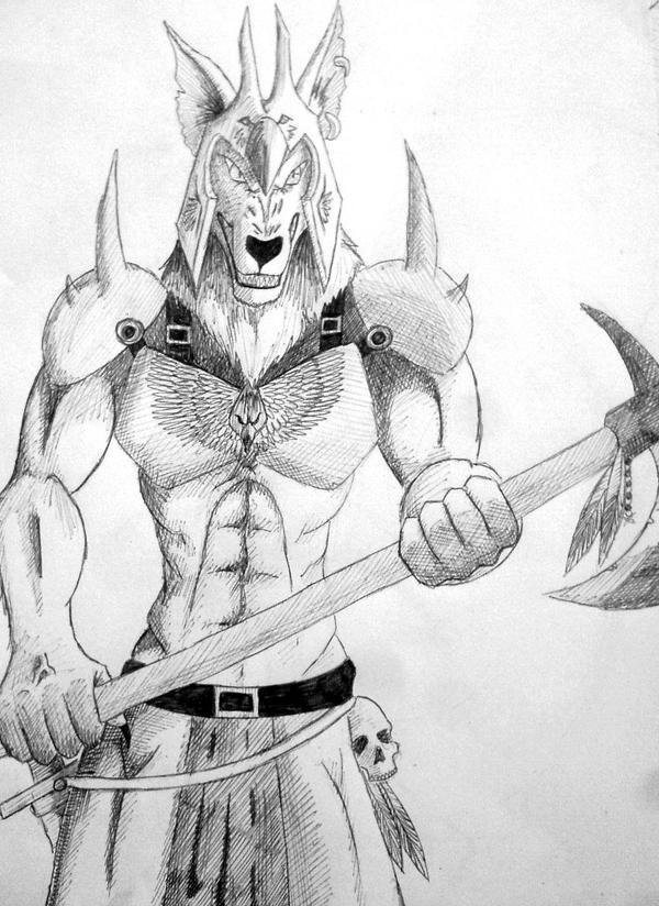 how to draw a warrior