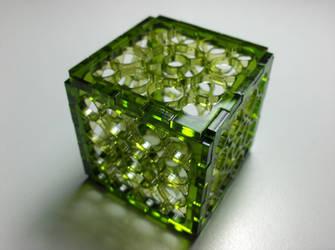 Green Cube by UniMatrixZero