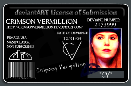 Deviant License or ID by crimsonvermil-stock