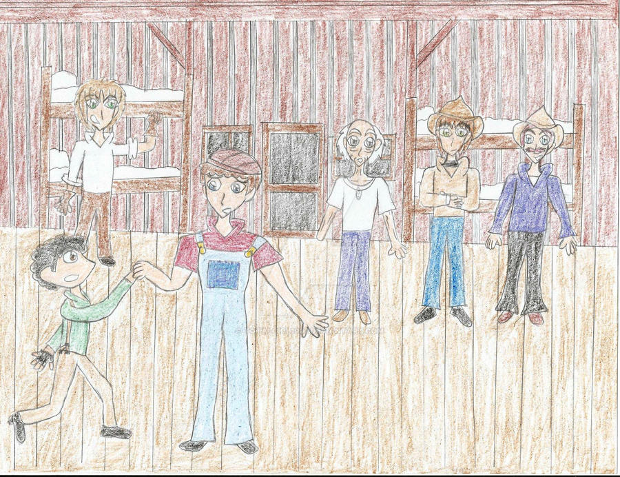 Of Mice And Men George And Lennie Drawing