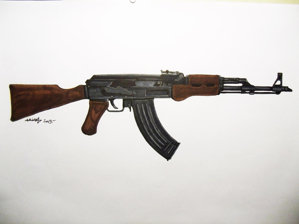 It's just an image of Monster Drawing Of Ak 47