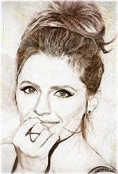 Stana Katic Art by OxanaKS