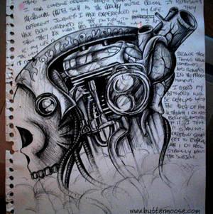 Skull, engine, and organs