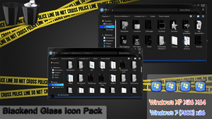 Blackend Glass IconPack Inst by 2JDesign