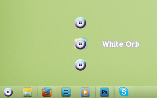 White Start Orb for Windows 7 by 2JDesign
