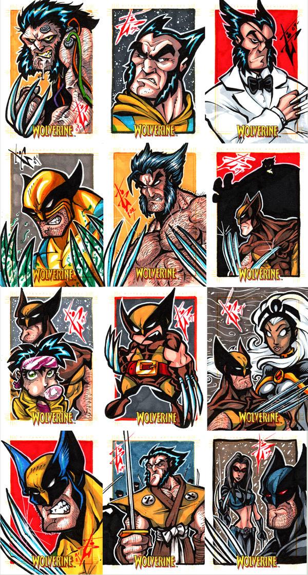 X-Men origins: Wolverine cards by skulljammer